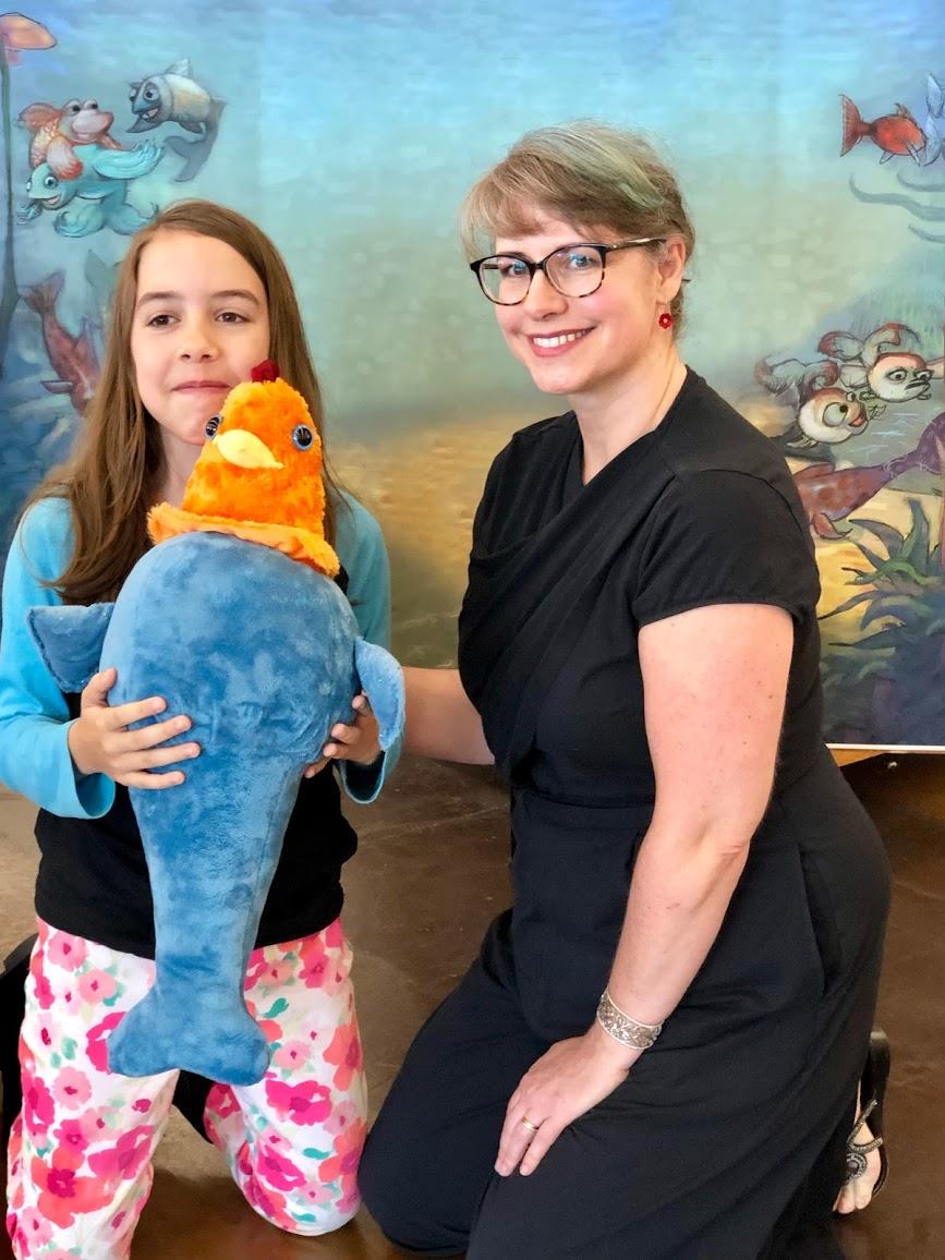 Fishkin with Gwen and Janna Lusk